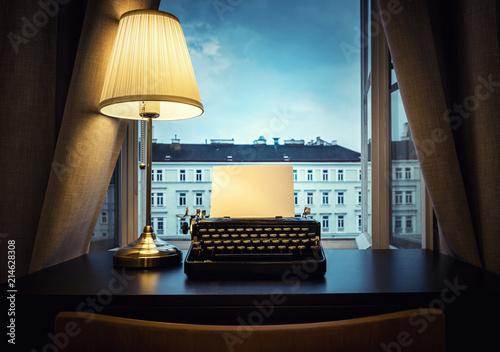 Photo  Workplace of a writer, journalist, creator