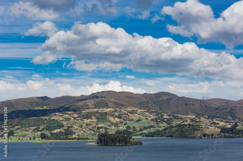 Staande foto Zuid-Amerika land Laguna de Tota Lake Boyaca in Colombia South America