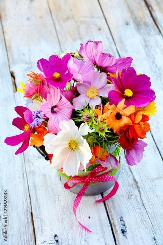 Grußkarte - Blumenstrauß Sommerblumen