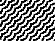 Shevron Pattern Wing Black Whi...