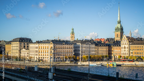 Poster Oceanië Cityscapes of Stockholm, Sweden with view of Gamla Stan