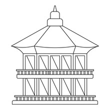 Taiwan Temple Icon. Outline Illustration Of Taiwan Temple Vector Icon For Web Design Isolated On White Background