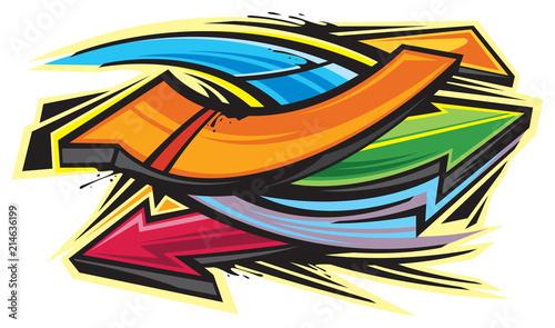 Foto op Aluminium Graffiti Graffiti art