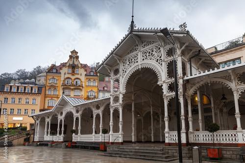Fotografie, Obraz  Street view of  Karlovy Vary town