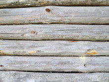 Old Wall Of Logs