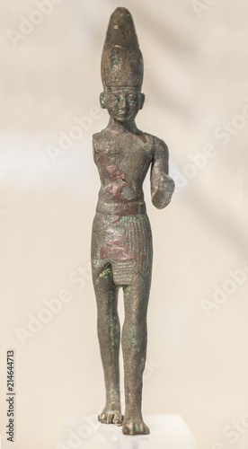 Bronze figure of oriental deity Melqart, Huelva, Spain