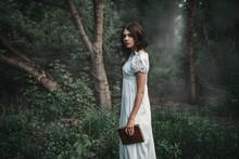 Female Victim In White Dress H...