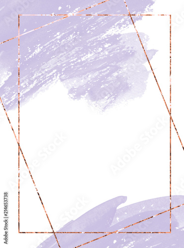 Fototapeta Invitation Card Watercolor Design Soft Pink Watercolor Texture Borders