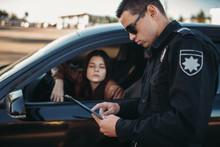 Cop In Uniform Checks License ...