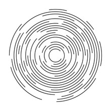 Concentric Circulating, Circle Line. Abstract Vortex Line Background. Vector Illustration For Design Your Website And Print