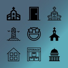 Vector Icon Set About Building...