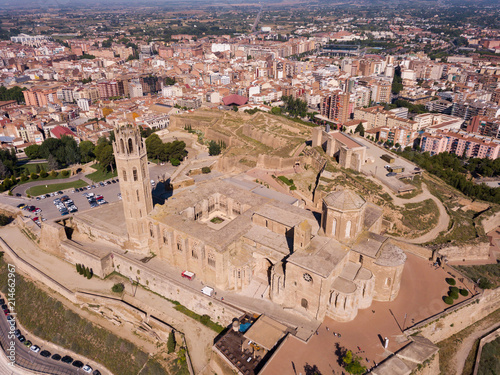 Aerial view of Cathedral of Lleida