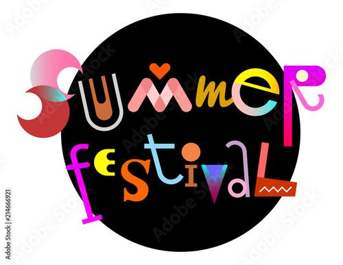 Staande foto Abstractie Art Summer Festival text