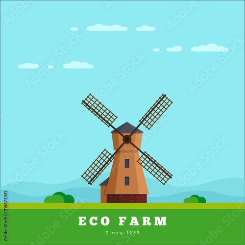 Foto op Plexiglas Lichtblauw Eco farm concept
