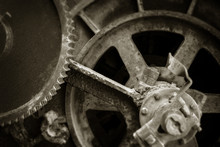 Detail Of Old Rusted Gears And...