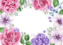 Floral Banner Template. Flower...
