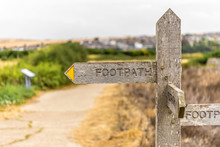 Footpath Signpost In English C...