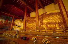 CHIANGMAI,THAILAND - July 24 2018, Wat Den Slaee Sri Muang Gan Panorama Temple (Wat Ban Den), The Beautiful Temple In Chiang Mai, Thailand.