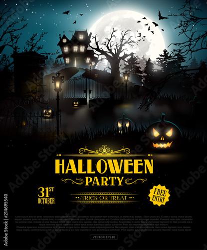 Fototapeta Halloween party background obraz
