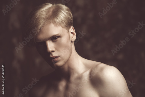 Poster Akt man with blond hair