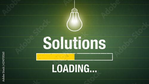 Solutions loading Fototapet