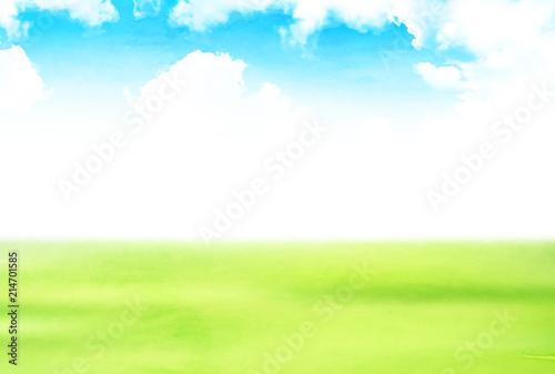 Fotografering 新緑 空 風景 背景
