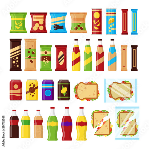 Photo  Snack product set for vending machine