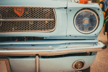 Headlight Lamp Of Vintage Car ...