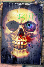 Nightmares. Graffiti With Skull