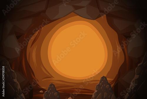 Obraz na płótnie A mystery cave hole
