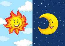 Set Of Sun And Moon