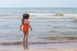 little girl on the beach.
