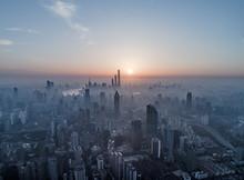 Aerial View Of Shanghai City I...