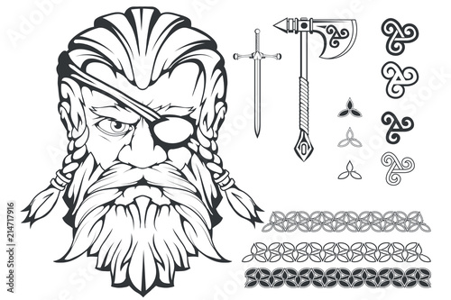 Scandinavian supreme god of Norse mythology - Odin Canvas Print