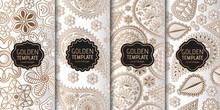 Set Of Golden Luxury Templates...