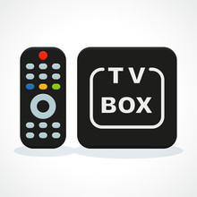 Vector Illustration Of Tv Box