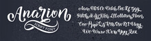 Hand Drawn Typeface. Brush Pai...