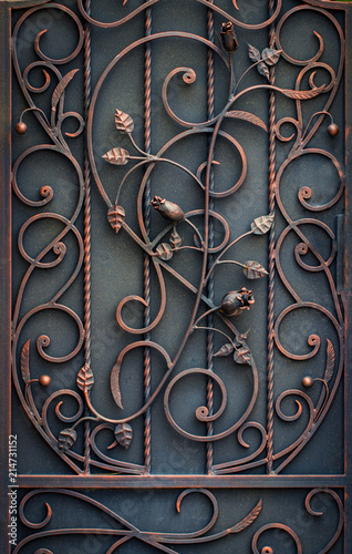 beautiful decorative metal elements forged wrought iron gates