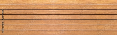 Fotobehang Hout Panorama of vintage brown wood wall pattern and background seamless