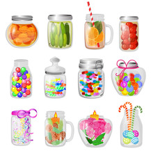 Glass Jar Vector Jam Or Sweet ...
