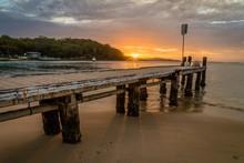 Sunset From Little Beach Pier ...