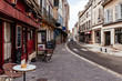 canvas print picture - Old street with old houses in a small town Chartres, France