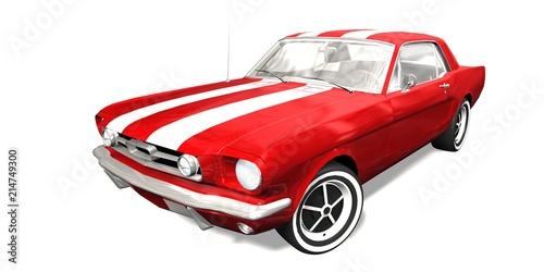 czerwony-klasyczny-samochod-sportowy-na-bialym-tle