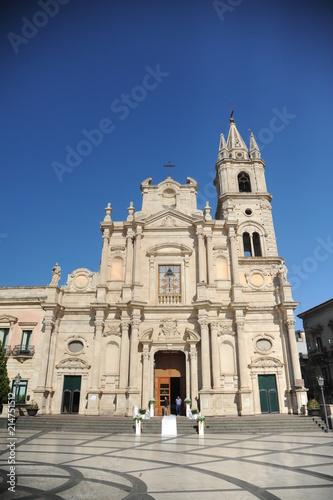 ACIREALE, SICILY, ITALY, JUNE 13, 2018 : Piazza del duomo, july 21, 2018, wonder Canvas Print