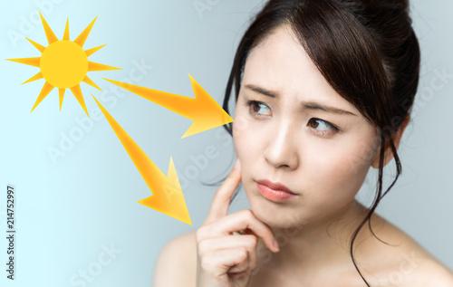女性の日焼けイメージ