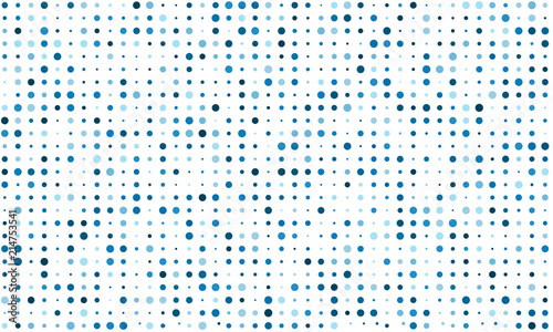 Vector background of many colored circles of random size and random shade Fototapet