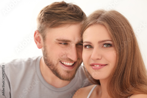 Happy loving couple at home #214755753