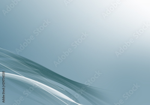 Fotobehang Fractal waves Elegant abstract aqua background design with space for your text