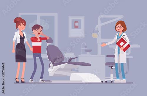 Fotografie, Obraz  Visit to the dentist