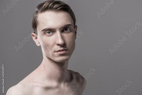 Fotobehang Akt shirtless slender man